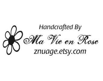 Daisy busines custom rubber stamp business card