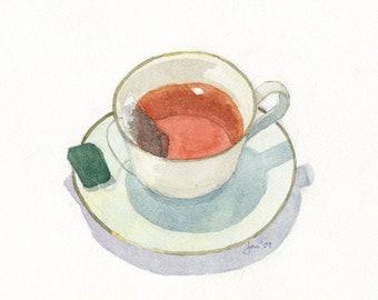 ORIGINAL Assam Black Tea - Watercolor Painting