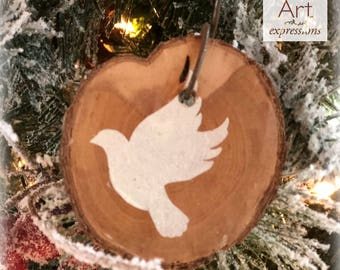 Christmas Dove Rustic Ornament | Reclaimed Wood Christmas Ornament | Hostess Gift
