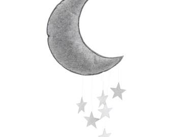Moon mobile grey silver