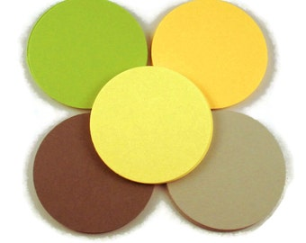 Paper Die Cut Circles  2 inch Circles in  Citrus Mix