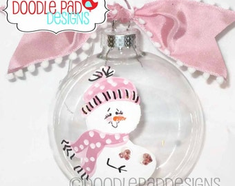 Expecting Ornament, Pregnant Snowman Ornament, Personalized Mom To Be ornament