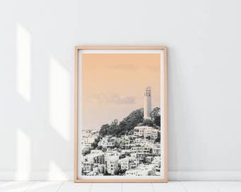 San Francisco Art, City Print, San Francisco Print, Westcoast Printable Print, City Landscape Art, California Printable Print