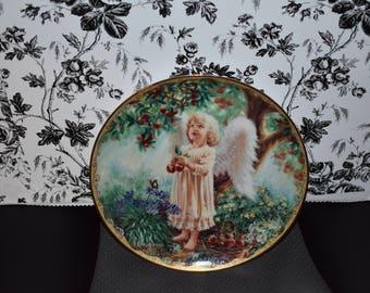 Vintage Dona Gelsinger Garden Blessings AN ANGEL'S GENTLENESS Collector Plate # 2713 A 1997