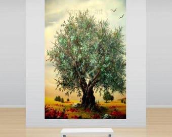 ΟliveTree  landscape painting Ready to hang   By Chris Art -Size:100x70cm ,  27,6 x 39,4in