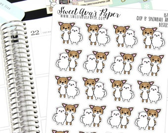 Best Friends Planner Stickers - Friend Date Planner Stickers - Lunch Date Stickers - Cat Planner Stickers - Dog Planner Stickers  - 1578