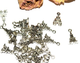 Charms X 10 Eiffel Tower charm 17 mm approx
