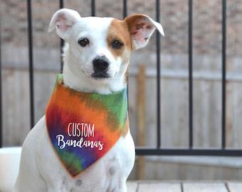 Custom Dog Bandanas / Personalize your dog bandanas with any text or graphic / 100% Cotton bandana / Custom bandanas / Dog apparel