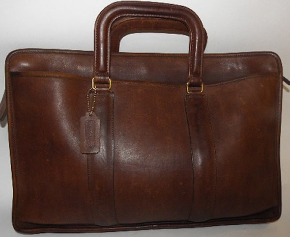 Vintage Coach Laptop Briefcase Bagg