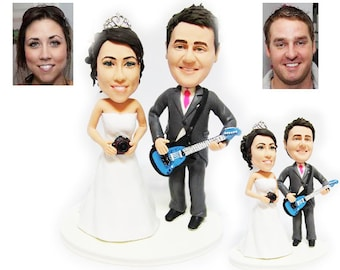 Personalised wedding cake topper - musical artists  (Free shipping)