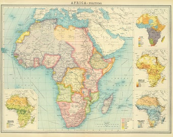 World map digital etsy africa map printntage africa political map printable digital downloadntage world map gumiabroncs Choice Image