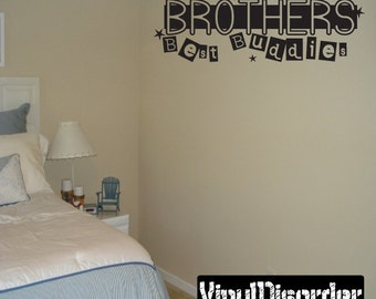 Brothers best buddies - Vinyl Wall Decal - Wall Quotes - Vinyl Sticker - Ct057Brothersvii8ET