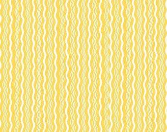 Fat Quarter -- Riley Blake Designs  --  Hipster Crimp Yellow -100% Cotton Fabric