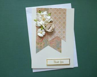 Elegant Floral Thankyou Card  FREE SHIPPING