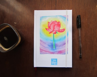 Blank book for writing and drawing with watercolor Lotus/personal diary or drawing Notebook