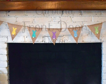 FREE SHIPPING - Burlap Easter banner/Happy Easter garland/ Easter banner/ Easter bunting/ Easter sign/ Easter decorations/ Easter photo pro