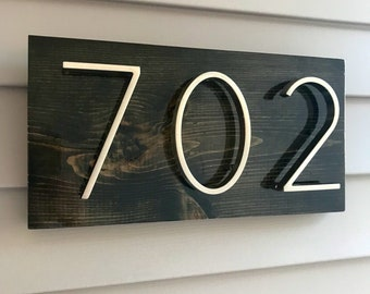 House Number Plaque, house number, address sign, address plaque, metal house numbers, christmas gift, present, outdoor sign, wood sign
