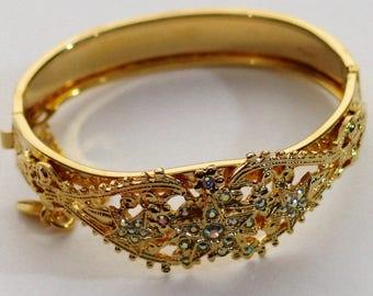 Kirks Folly Crystal Cuff Bracelet