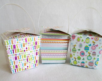 Easter Favors Easter Boxes Mini Easter Baskets Easter Favor Boxes Easter Box Easter Treat Boxes Spring Favors Easter Treat Containers
