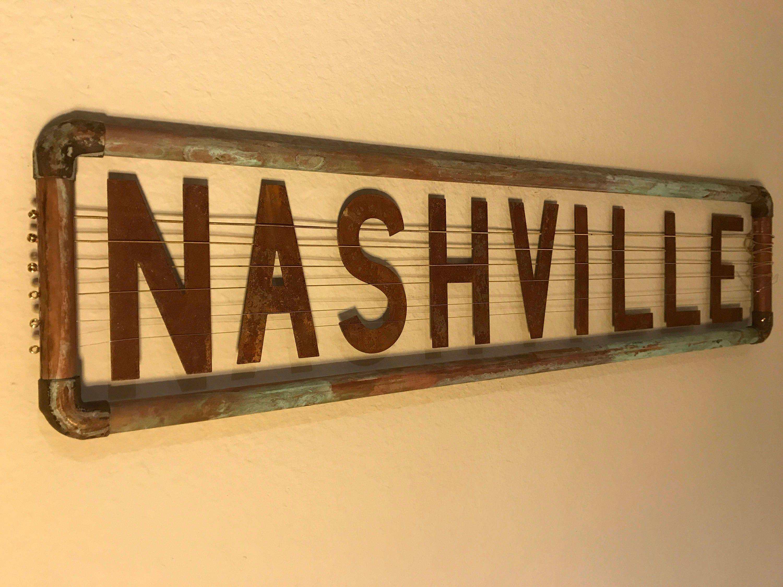 Nashville wall art guitar strings