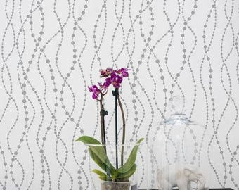 Pearls Allover Stencil - DIY Home Improvement - Better than Wallpaper