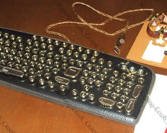 "The exclusive : Steampunk Keyboard "" JOVE "" & Illuminated USB"