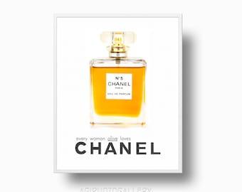 Chanel No 5 Perfume Bottle , Chanel Logo Print, Chanel Perfume Bottle Print, Coco Chanel, Parfume bottle Printable, Paris Chanel Ad, CC,