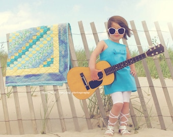 SALE!!Retro style Turquoise Jewel neckline dress ..children girls clothing