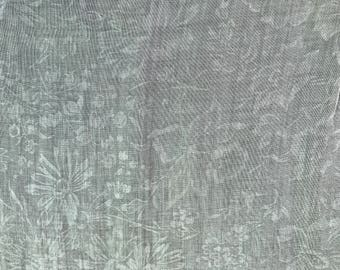 1950s Floral Voile Tablecloth Square