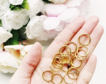 18k Gold Stitch Markers Set of 6 ⨯ Knitting Crochet Stitch Markers ⨯ 18k Gold Plated ⨯ Fits up to Size 15 (10mm) Knitting Needles ⨯ Knitting