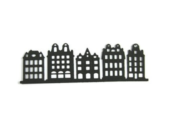Paper Row Houses Die Cut set of 12