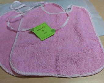 Pack of 2 baby bibs - pink