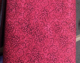 Wilmington Prints Leafy Scroll-Ruby Slippers, Fabric by the Yard