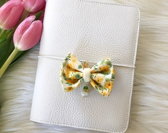 Dainty Spring Floral Yellow Bow