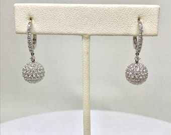 Diamond Pave Dangle Earrings