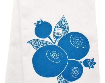 NEW organic blueberry tea towel