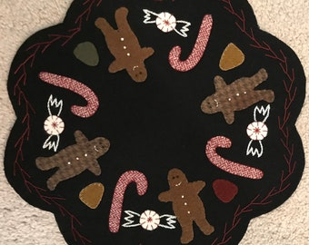 Gingerbread Man, Candy Cane, Table Mat, Candle Mat, Christmas