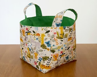 Large fabric basket, kids storage, childrens storage, diaper caddy, toy storage, toy basket, nursery storage, toy hamper, storage hamper