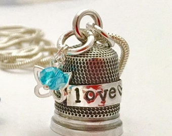 Upcycled Thimble Necklace