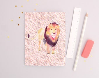The Lion - Recycled Paper Notebook - Dotted pages - stationery - zodiac gift
