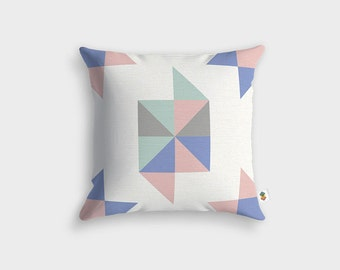 Cushion geometric INES - Made in France - 45 x 45 cm