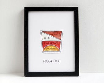 Negroni Cocktail Diagram