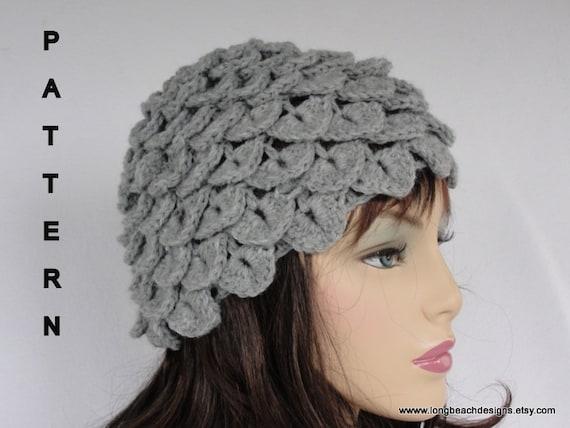 Crochet Hat Pattern Crochet Beanie Pattern Crocodile Stitch/