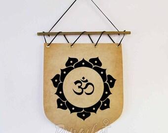Om Symbol Wall Hanging Banner Namaste Meditation wall art decor Om mantra Yoga spiritual zen decor Yoga Christmas gift spirituelle Mandala