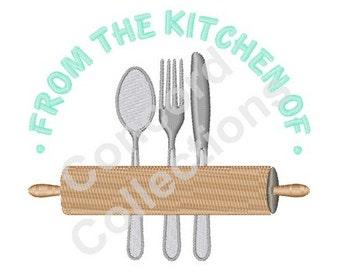 Kitchen Items Machine Embroidery Design