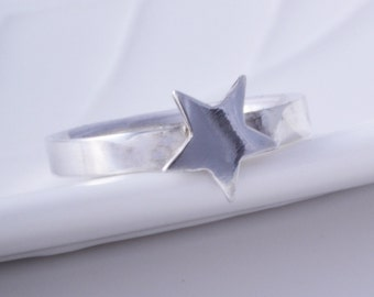 Sterling silver star ring handmade choose your size custom made to order 925