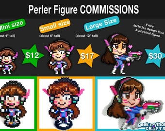Perler Bead Pixel Art Figure Commissions - You Pick Any Character or OC!