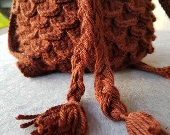 Brown Dragonscale bag