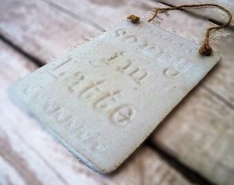 Ceramic hanging board. Home decor, gift idea, kitchen decor,