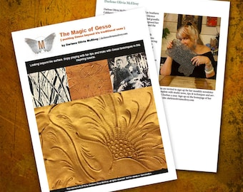 The Magic of Gesso // art instruction // step by step learning // mixed media art// art surface techniques // art teacher resource